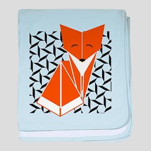 Origami Fox baby blanket