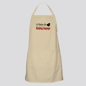 Rather Be Studying Languages BBQ Apron