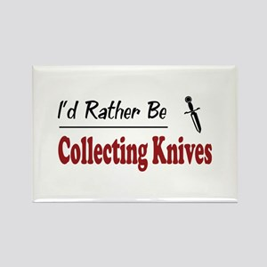 Rather Be Collecting Knives Rectangle Magnet