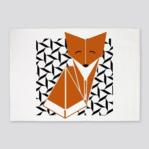 Origami Fox 5'x7'Area Rug