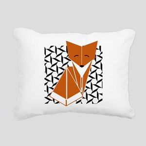 Origami Fox Rectangular Canvas Pillow