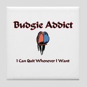 Budgie Addict Tile Coaster