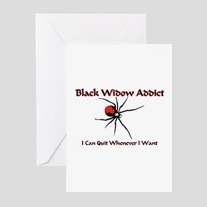 Black Widow Addict Greeting Cards (Pk of 10)