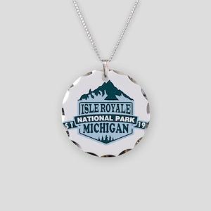 Isle Royale - Michigan Necklace Circle Charm