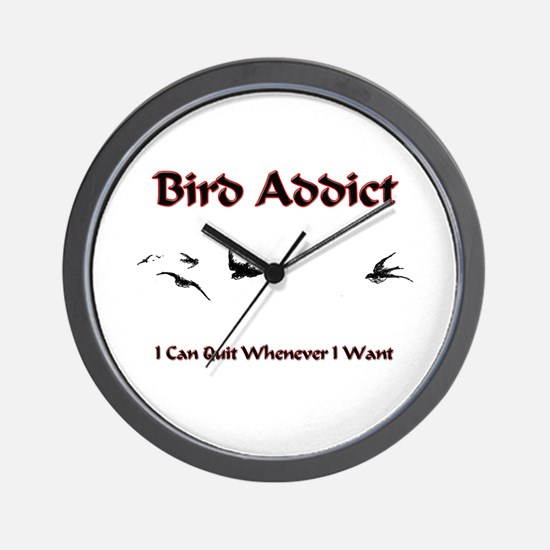 Bird Addict Wall Clock