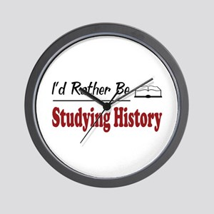 Rather Be Studying History Wall Clock
