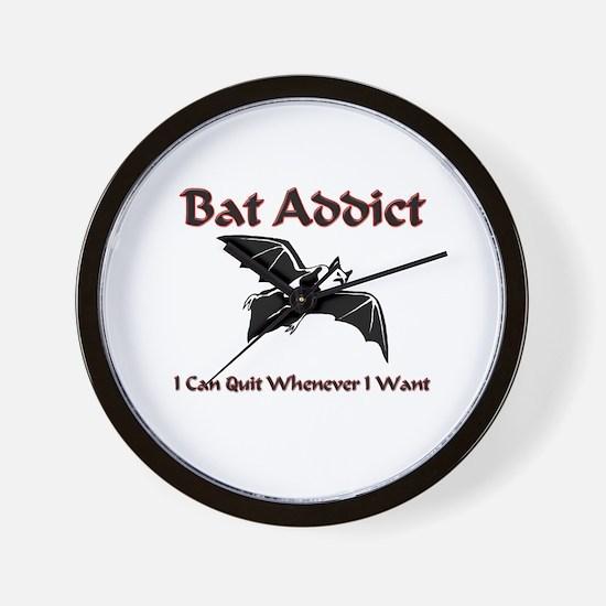 Bat Addict Wall Clock