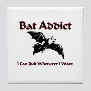 Bat Addict Tile Coaster