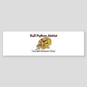 Ball Python Addict Bumper Sticker