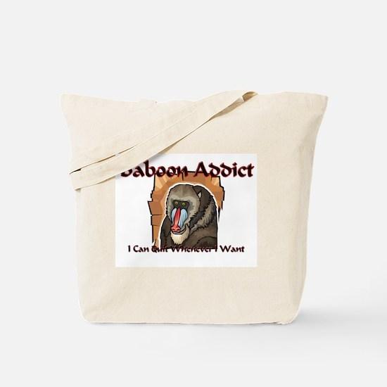 Baboon Addict Tote Bag