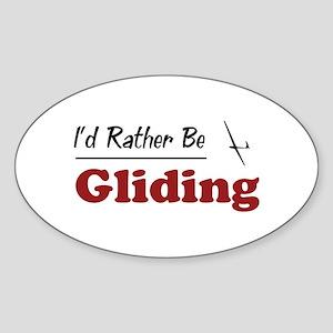 Rather Be Gliding Oval Sticker