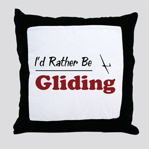 Rather Be Gliding Throw Pillow