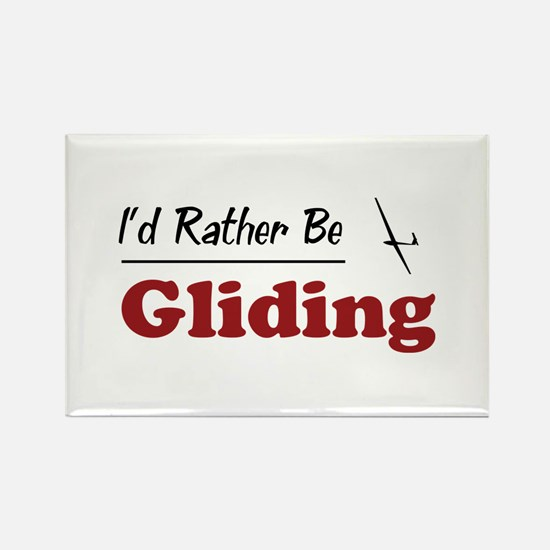Rather Be Gliding Rectangle Magnet