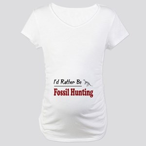 Rather Be Fossil Hunting Maternity T-Shirt