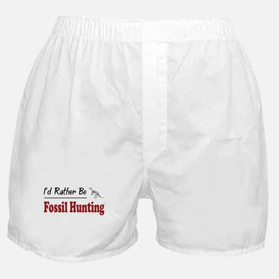 Rather Be Fossil Hunting Boxer Shorts