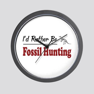 Rather Be Fossil Hunting Wall Clock