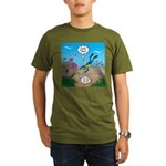 SCUBA Diver and Moray Organic Men's T-Shirt (dark)