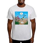 SCUBA Diver and Moray Eel Light T-Shirt