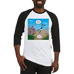 SCUBA Diver and Moray Eel Baseball Tee