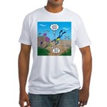 SCUBA Diver and Moray Eel Fitted T-Shirt