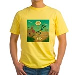 SCUBA Diver and Moray Eel Yellow T-Shirt