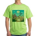 SCUBA Diver and Moray Eel Green T-Shirt