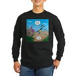 SCUBA Diver and Moray Eel Long Sleeve Dark T-Shirt