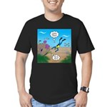 SCUBA Diver and Moray Men's Fitted T-Shirt (dark)