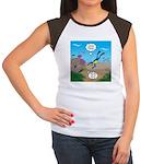 SCUBA Diver and Moray Junior's Cap Sleeve T-Shirt