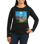 SCUBA Diver and M Women's Long Sleeve Dark T-Shirt