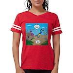 SCUBA Diver and Moray Eel Womens Football Shirt