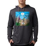 SCUBA Diver and Moray Eel Mens Hooded Shirt