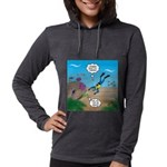 SCUBA Diver and Moray Eel Womens Hooded Shirt