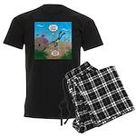 SCUBA Diver and Moray Eel Men's Dark Pajamas
