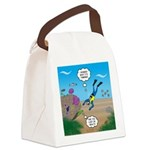 SCUBA Diver and Moray Eel Canvas Lunch Bag
