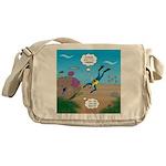 SCUBA Diver and Moray Eel Messenger Bag