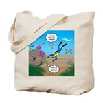 SCUBA Diver and Moray Eel Tote Bag