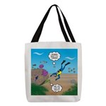 SCUBA Diver and Moray Eel Polyester Tote Bag