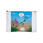 SCUBA Diver and Moray Eel Makeup Bag