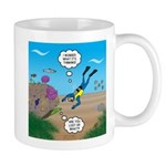 SCUBA Diver and Moray Eel 11 oz Ceramic Mug