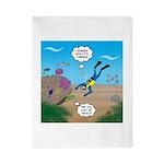 SCUBA Diver and Moray Eel Twin Duvet Cover