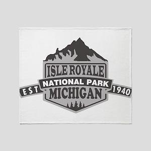 Isle Royale - Michigan Throw Blanket