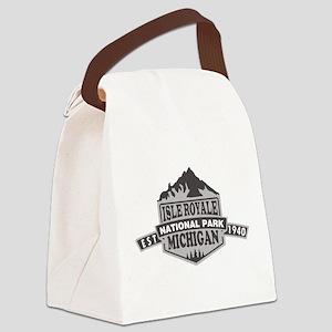 Isle Royale - Michigan Canvas Lunch Bag