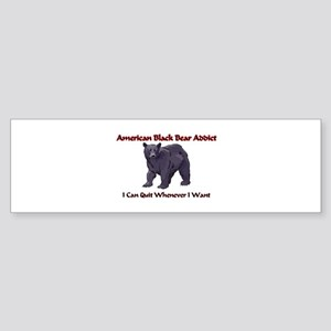 American Black Bear Addict Bumper Sticker