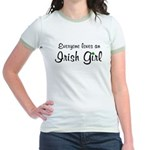 Everyone Loves an Irish Jr. Ringer T-Shirt