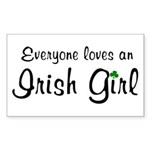 Everyone Loves an Irish Rectangle Sticker