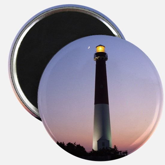 Magnet - Barnegat Lighthouse at sunset with moon