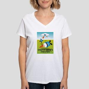 Garden Gnome Tippers Women's V-Neck T-Shirt