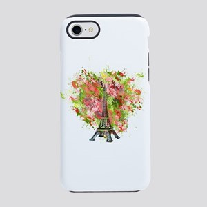 eiffel Tower Green Rose Colo iPhone 8/7 Tough Case