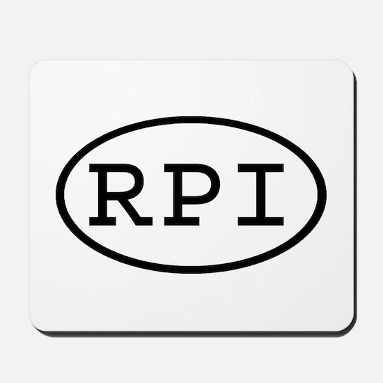 RPI Oval Mousepad
